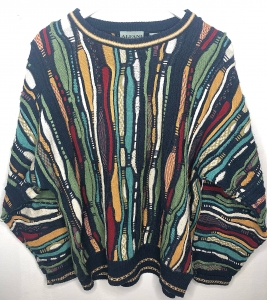 90s Colourful Coogi Style Jumper