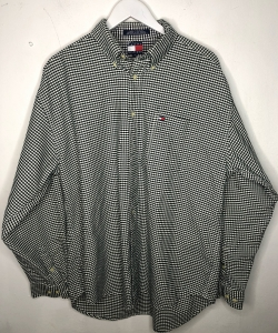 Oversized Green Checked Large Tommy Hilfiger Shirt