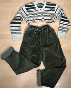 Highwaisted Cord Cropped OUTFIT OFFER