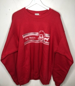 Oversized New Orleans Red Crew Neck