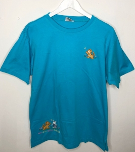 Casual Blue Cartoon Tee
