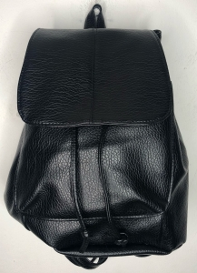 Black Leather Look Rucksack