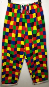 Highwaisted Colourful Baggy Checked Trousers