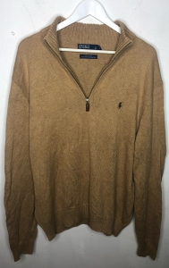 Camel Quarter Zip Ralph Lauren Jumper