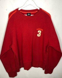 Oversized Red Adidas Jumper