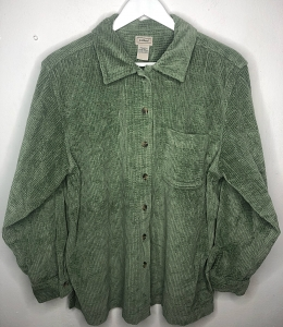 Olive Green Thick Cord Shirt