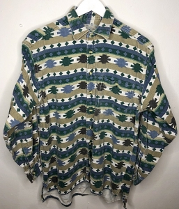 Thick Aztec Style Vintage Shirt