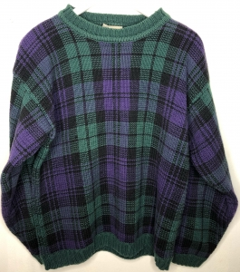 Purple & Green Checked Jumper