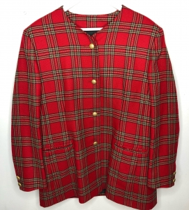 Tartan Blazer Shirt/Dress